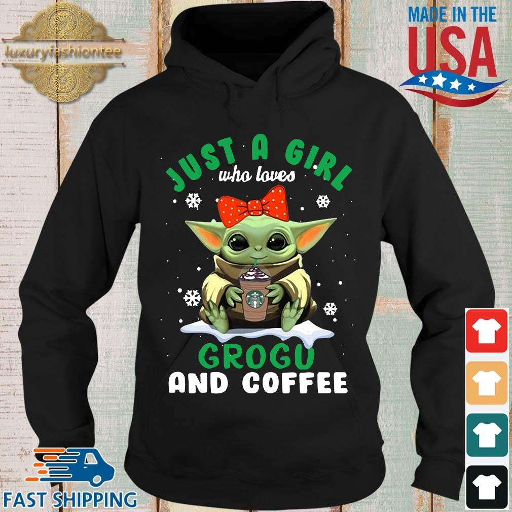 Baby Yoda hug Starbucks just a girl who loves grogu and coffee s Hoodie