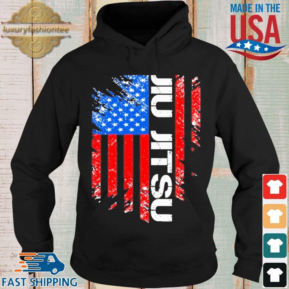 Jiu Jitsu American Flag Shirt Hoodie