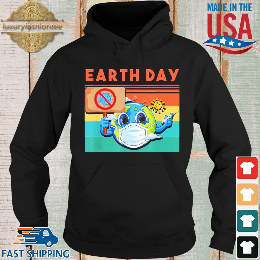 Planet Earth Wearing Mask Earth Day 2021 Shirt Hoodie