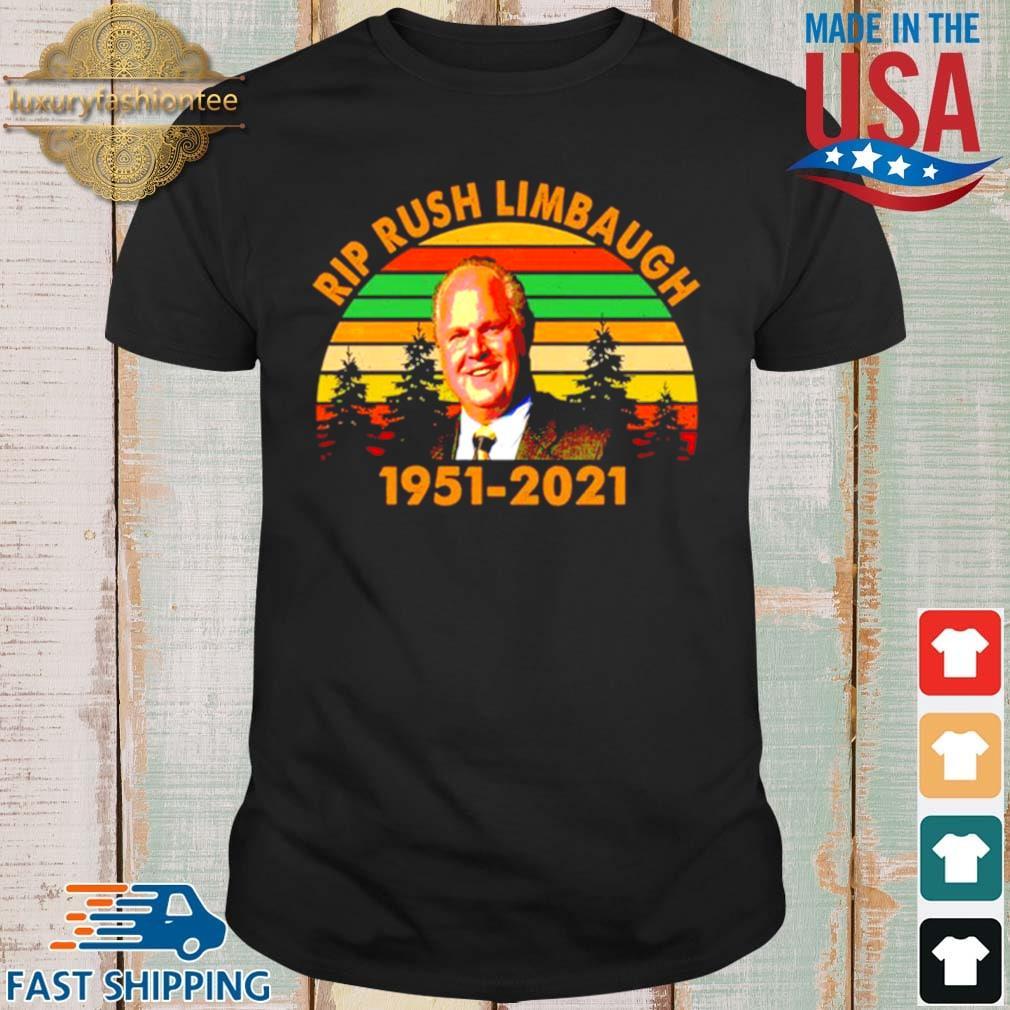 Rip Rush Limbaugh 1951 2021 vintage shirt