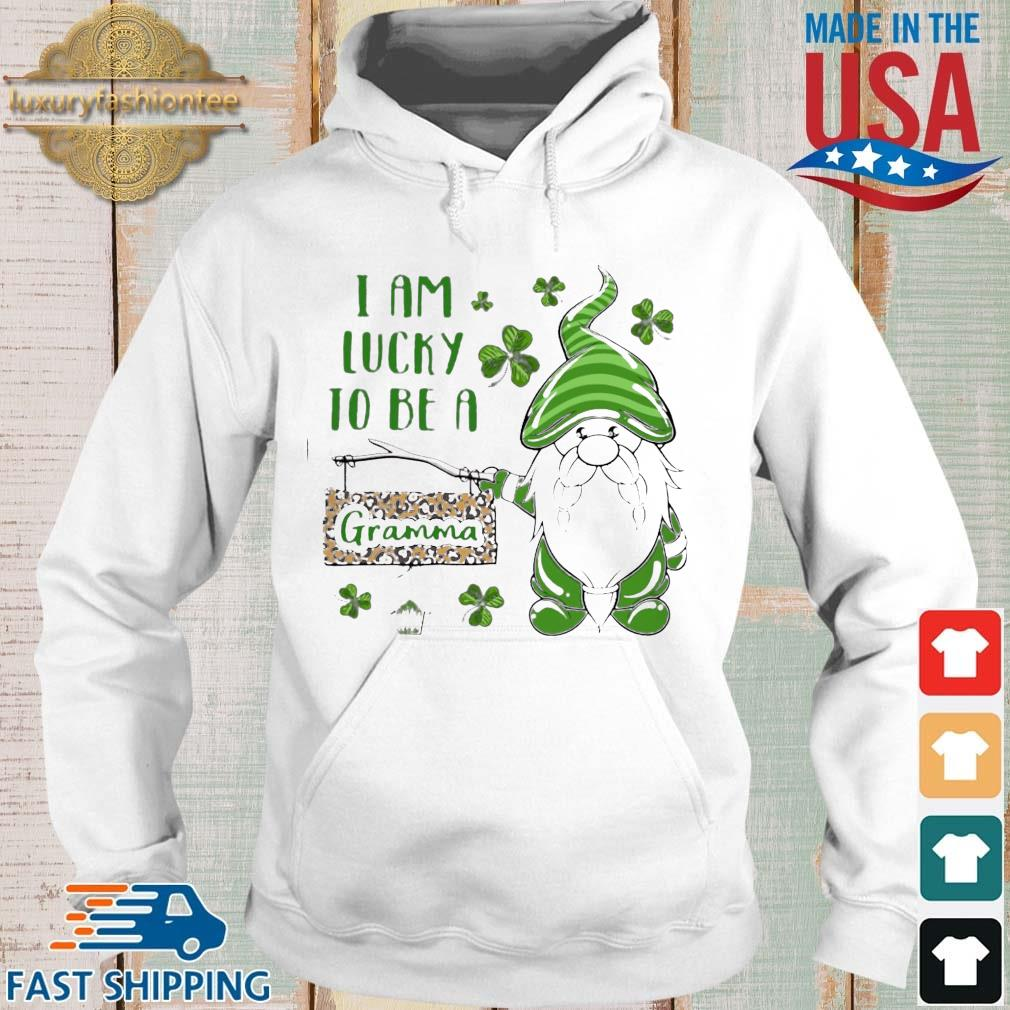 St Patrick's Gnomes I Am Lucky To Be A Gramma Shirt Hoodie trang