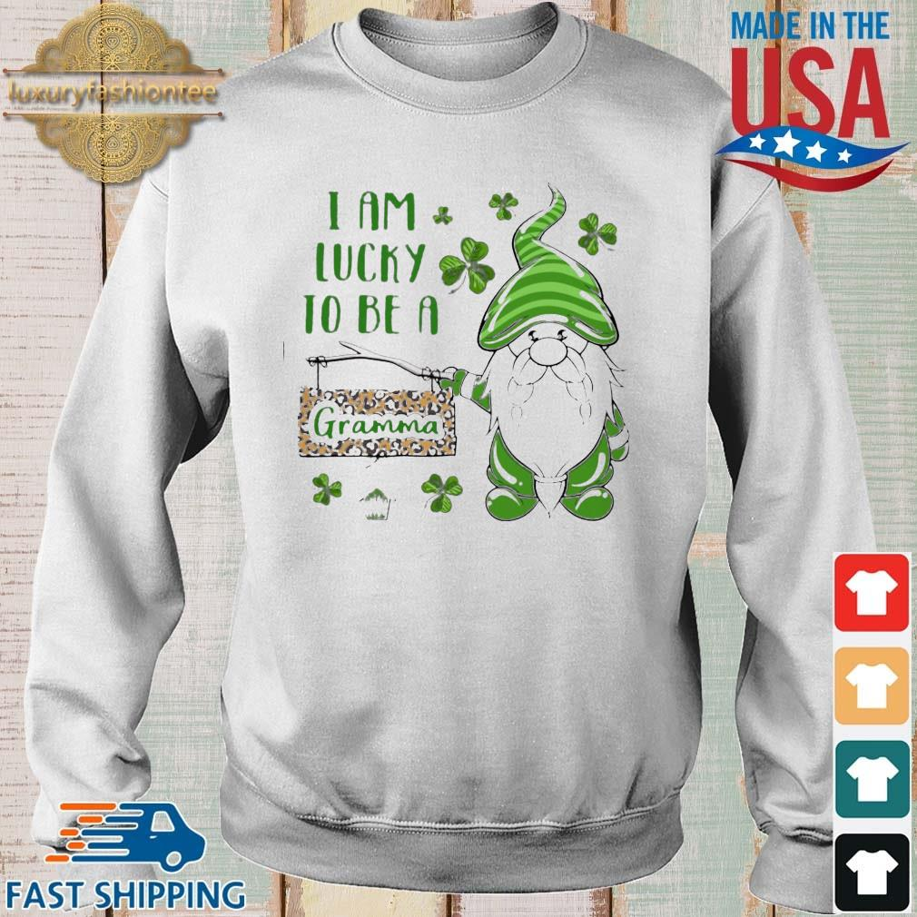 St Patrick's Gnomes I Am Lucky To Be A Gramma Shirt Sweater trang