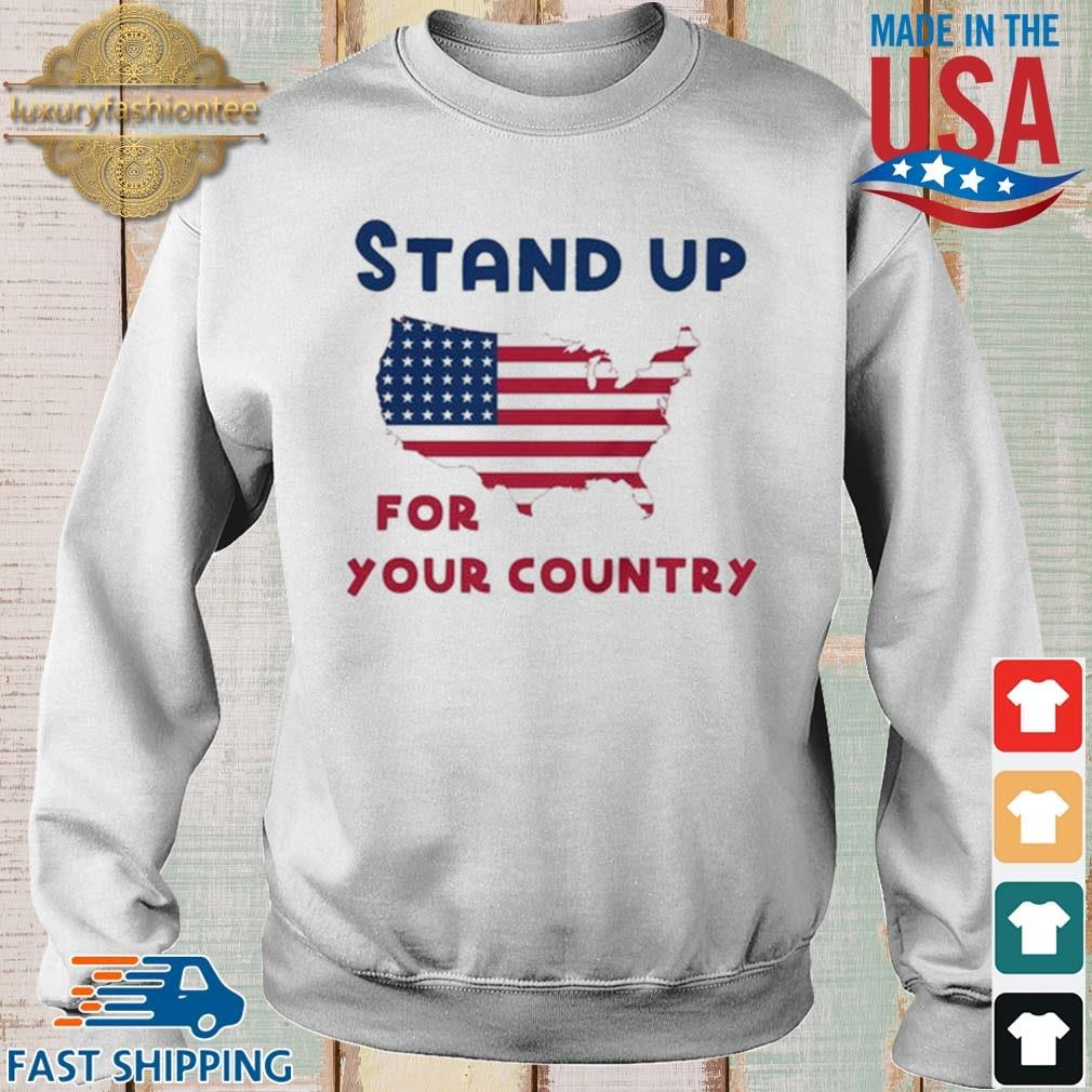 Stand up for your country American Flag s Sweater trang