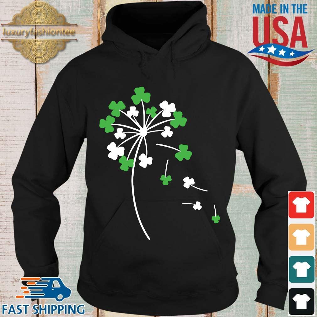 Dandelion shamrock St Patricks Day Hoodie