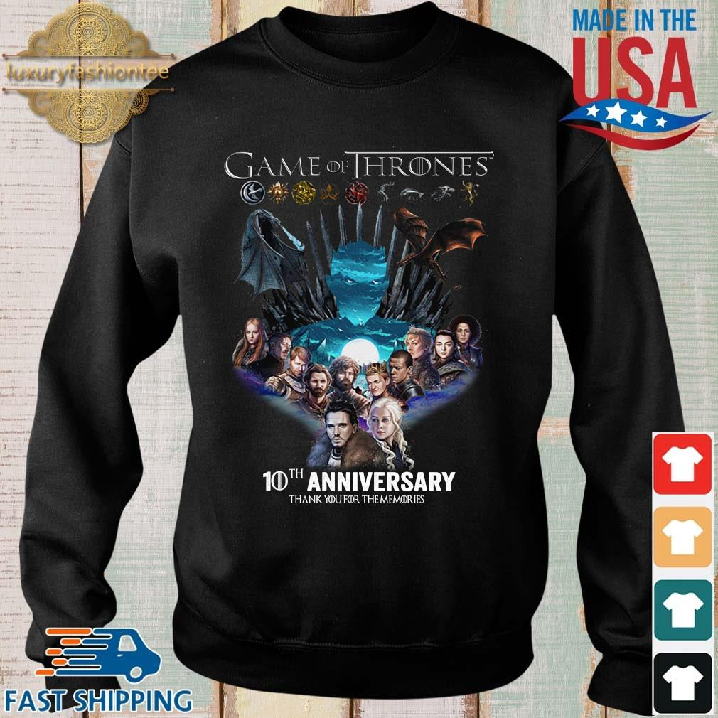 Game Of Thrones 10th anniversary thank you for the memories s Sweater