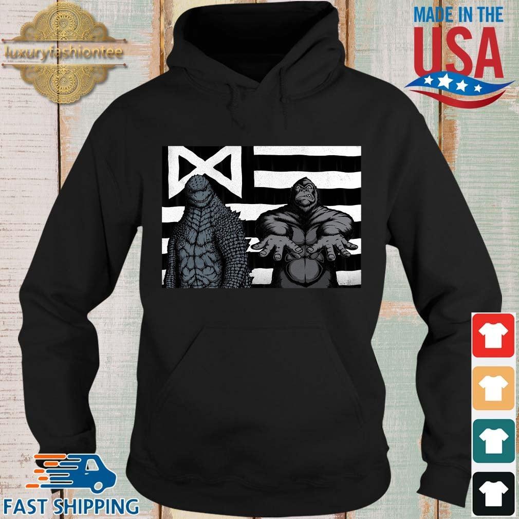 Godzilla And King Kong American Flag Shirt Hoodie