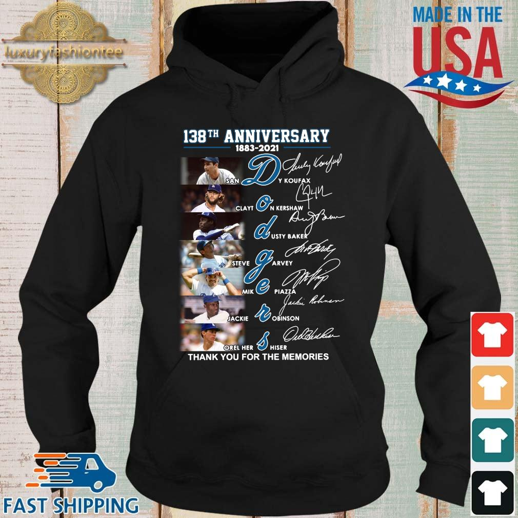 138th anniversary 1883-2021 Dodgers thank you for the memories signatures s Hoodie