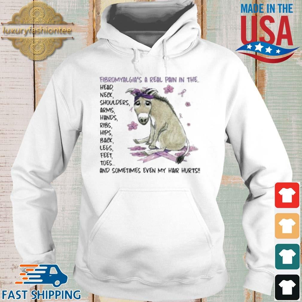 Donkey fibromyalgia's a real pain in the head neck s Hoodie trang