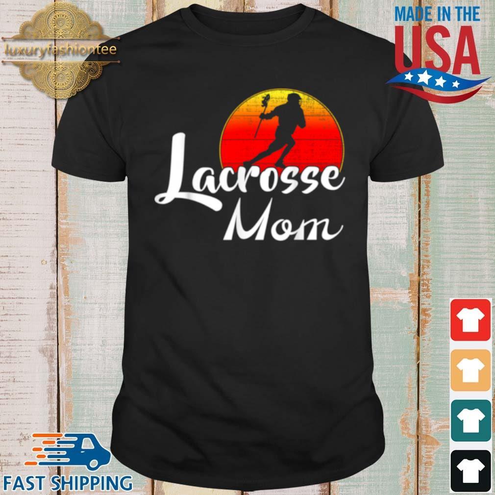Lacrosse Mom Vintage Sunset Shirt