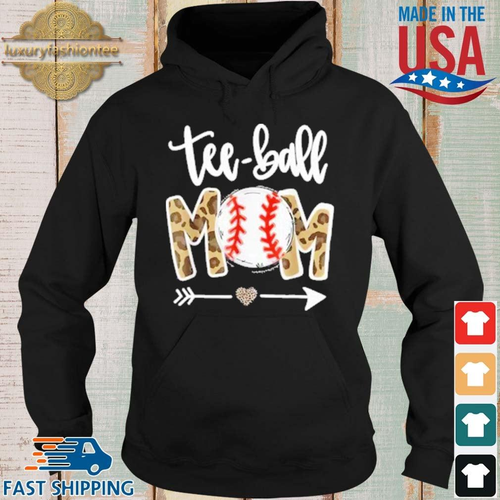 Teeball Mom Leopard Mothers Day 2021 Shirt Hoodie