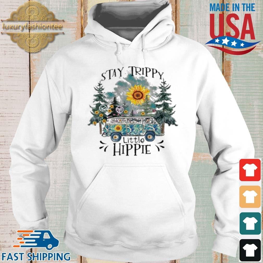 Trippy Little Hippie Flower Shirt Hoodie trang