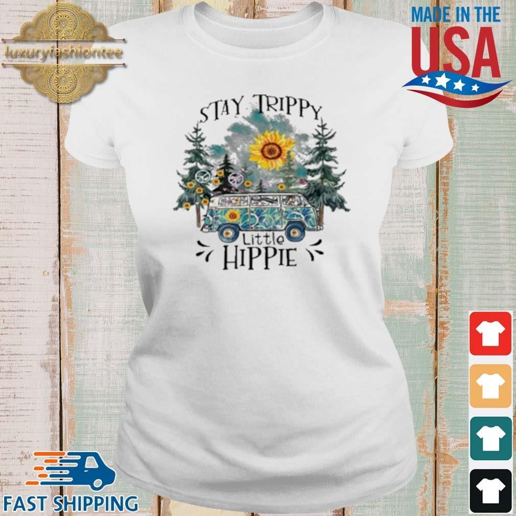 Trippy Little Hippie Flower Shirt Ladies trang