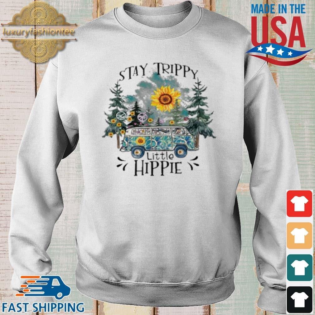Trippy Little Hippie Flower Shirt Sweater trang