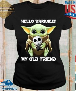 Baby Yoda hug skellington hello darkness my old friend s Ladies den