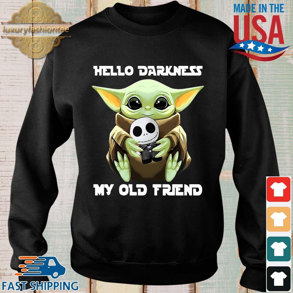 Baby Yoda hug skellington hello darkness my old friend s Sweater den