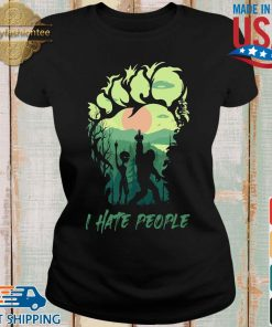 Bigfoot Alien middle finger green I hate people s Ladies den