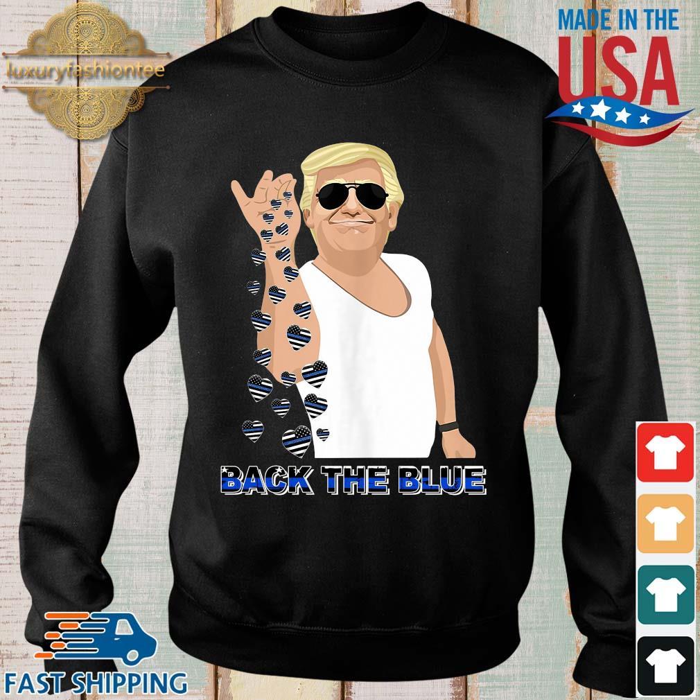 Donald Trump salt back the blue heart American flag shirts Sweater den