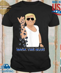 Donald Trump salt back the blue heart American flag shirts