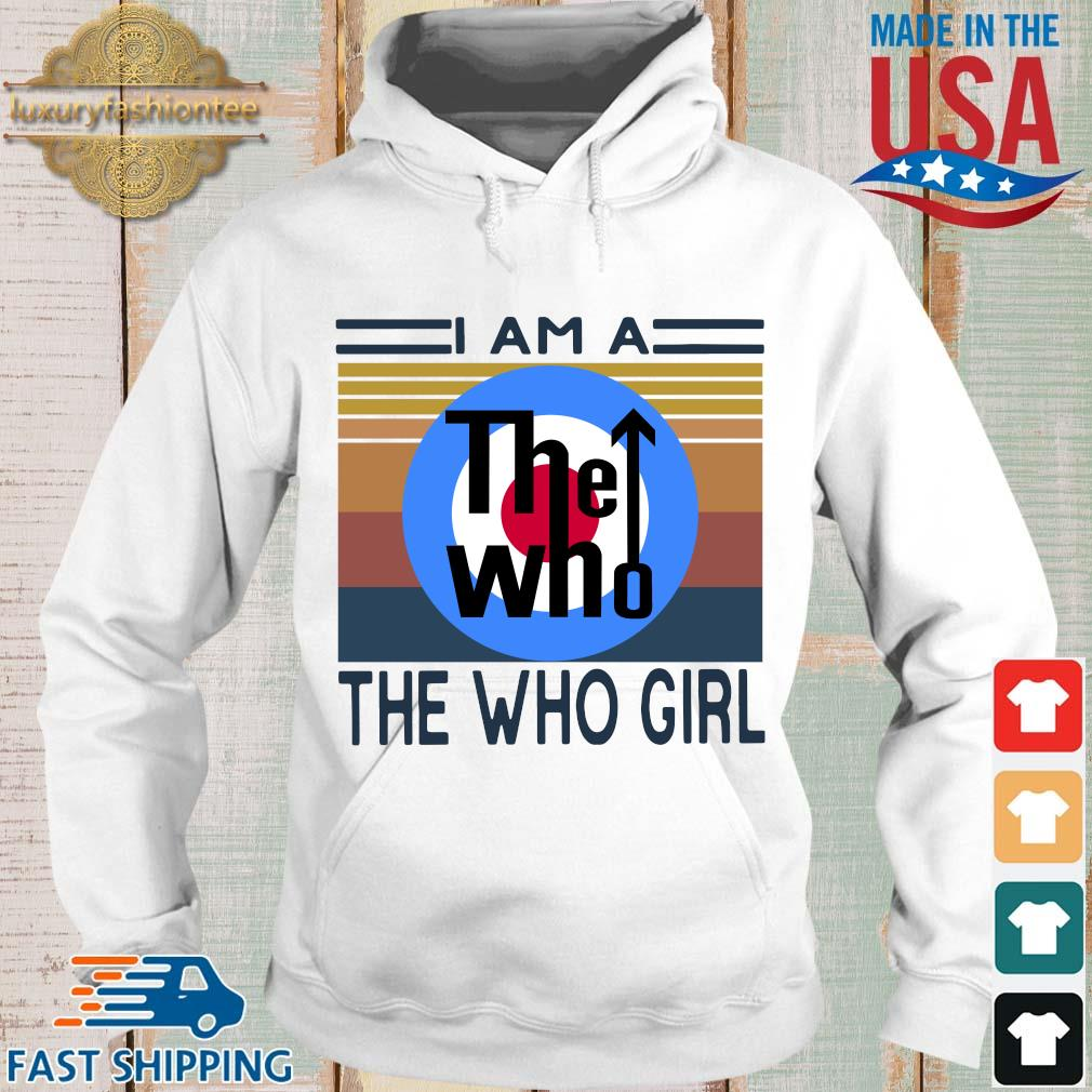 I am a the who girl vintage s Hoodie trang