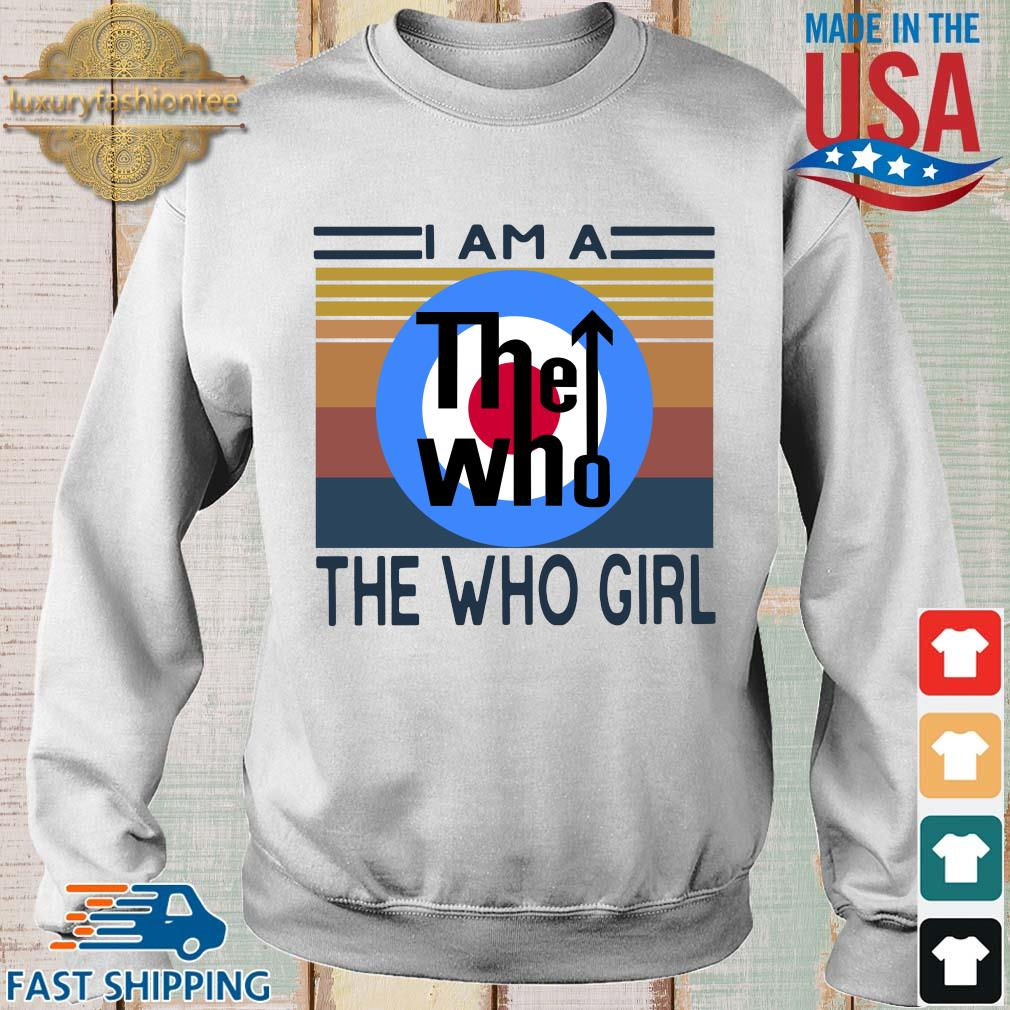 I am a the who girl vintage s Sweater trang