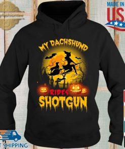 My dachshund rides shotgun scary halloween s Hoodie den