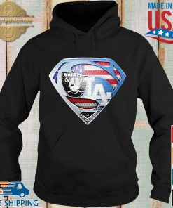 Oakland Raiders and Los Angeles dodgers superman s Hoodie den