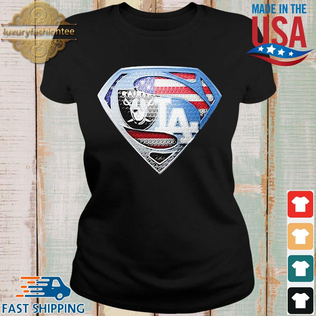 Oakland Raiders and Los Angeles dodgers superman s Ladies den