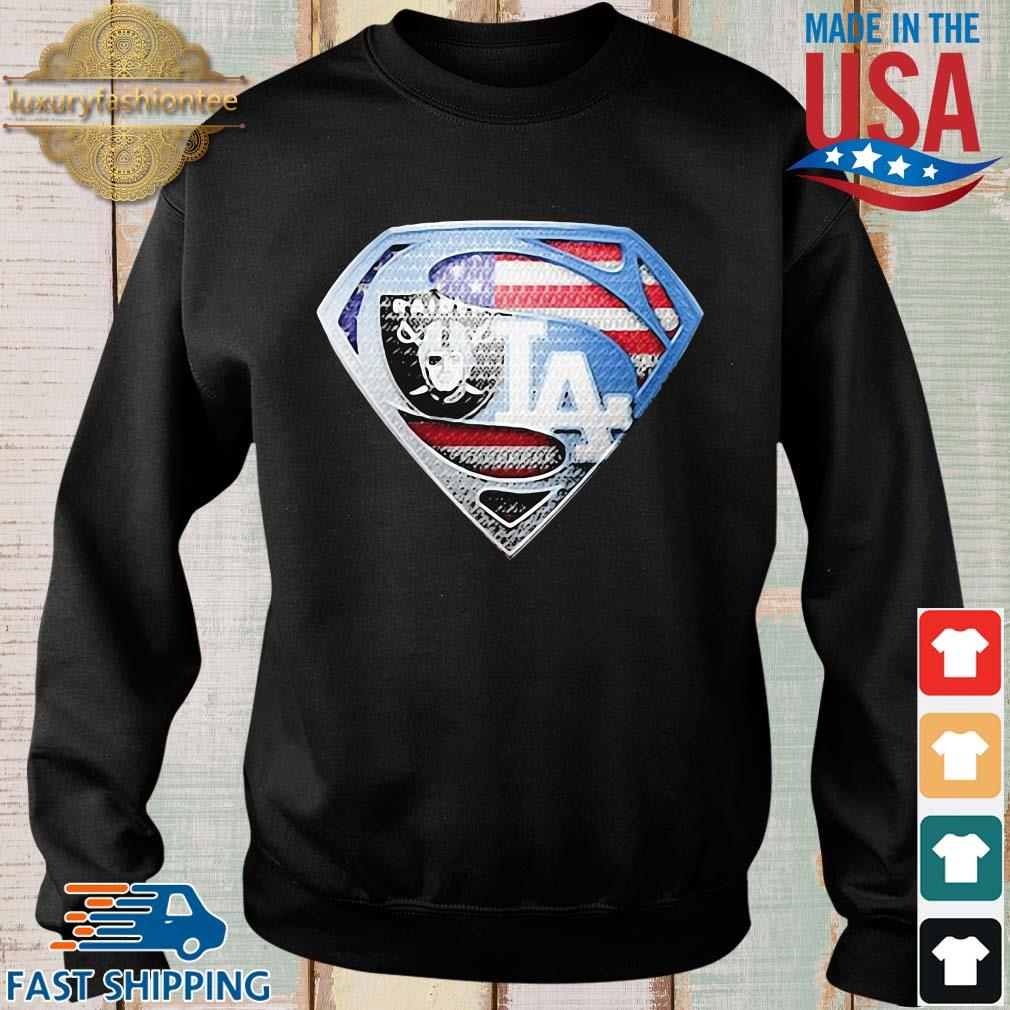 Oakland Raiders and Los Angeles dodgers superman s Sweater den