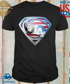 Oakland Raiders and Los Angeles dodgers superman shirt