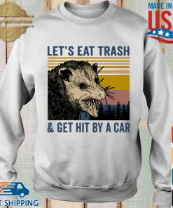 Opossum let's eat trash and get hit by a car vintage s Sweater trang