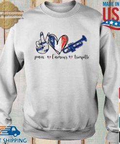 Paix l'amour trompette s Sweater trang