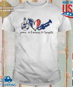 Paix l'amour trompette shirt