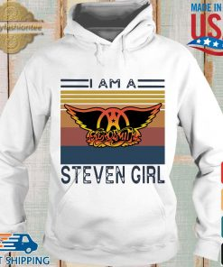 Saerosmith I am a Steven girl vintage s Hoodie trang