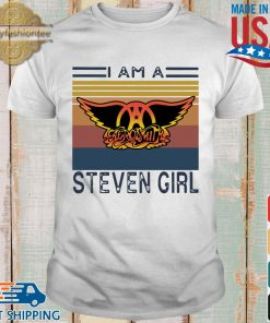 Saerosmith I am a Steven girl vintage shirt
