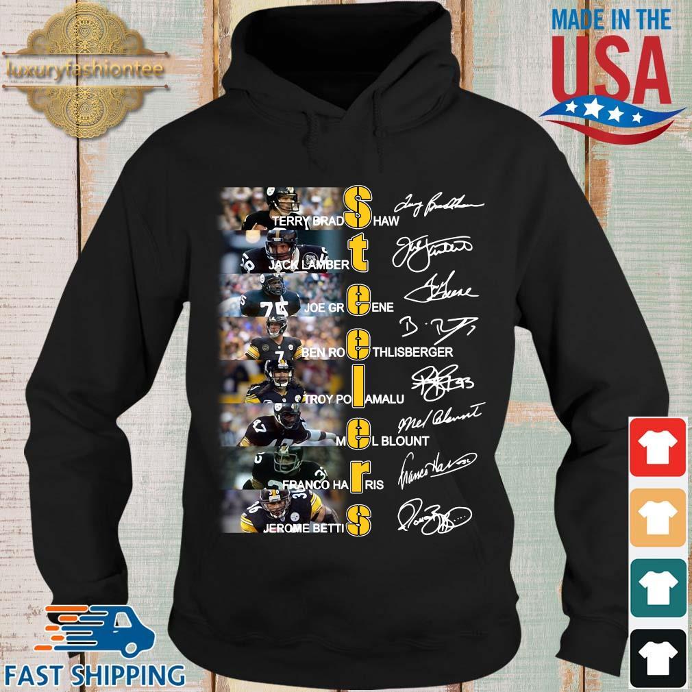 Pittsburgh Steelers John Stallworth Jerome Bettis Joe Greene Terry Bradshaw all signatures s Hoodie den