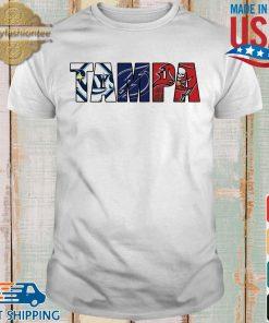 Tampa sports team Tampa Bay Rays Tampa Bay Lightning Tampa Bay Buccaneers shirt