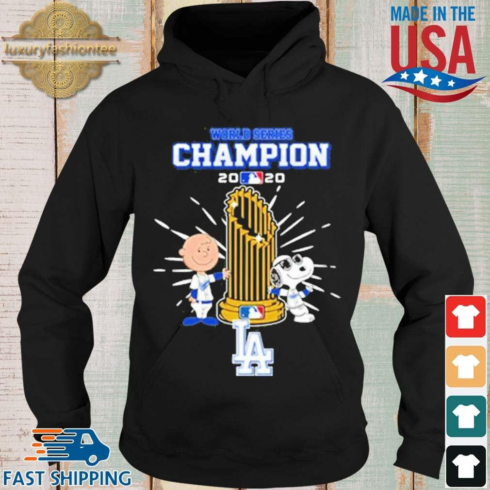 Los Angeles Dodgers Charlie Brown And Snoopy World Series Champion 2020 Shirt Hoodie