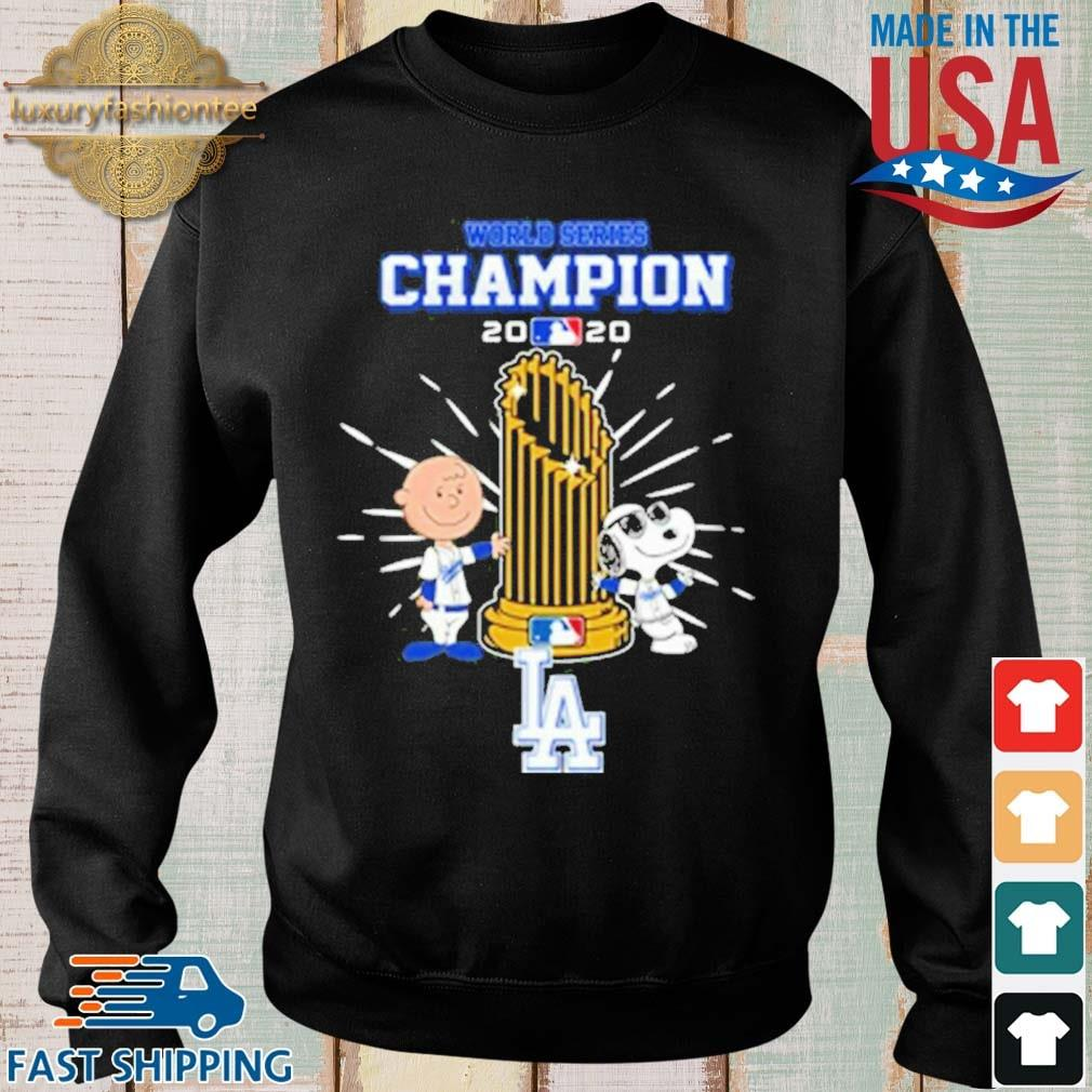 Los Angeles Dodgers Charlie Brown And Snoopy World Series Champion 2020 Shirt