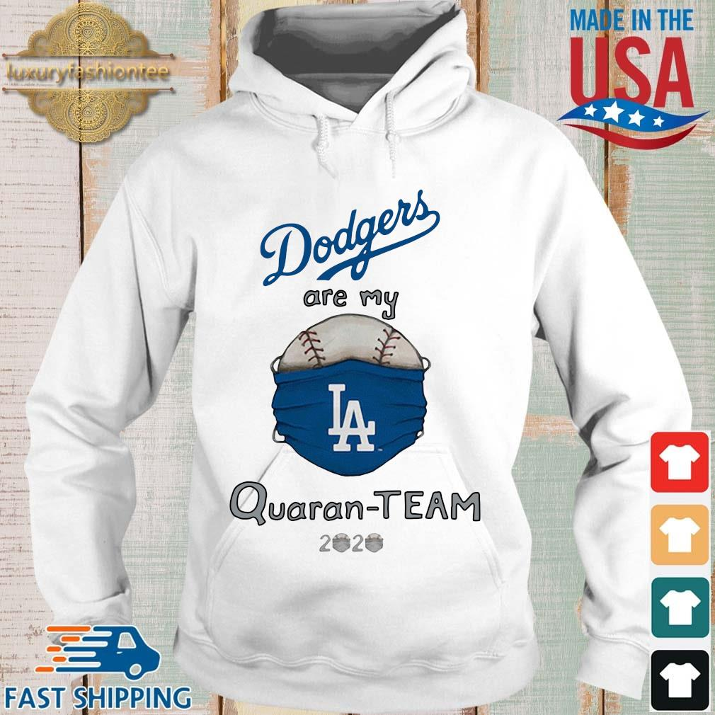 Los Angeles Dodgers Tiny Turnip White QuaranTeam Shirt Hoodie trang