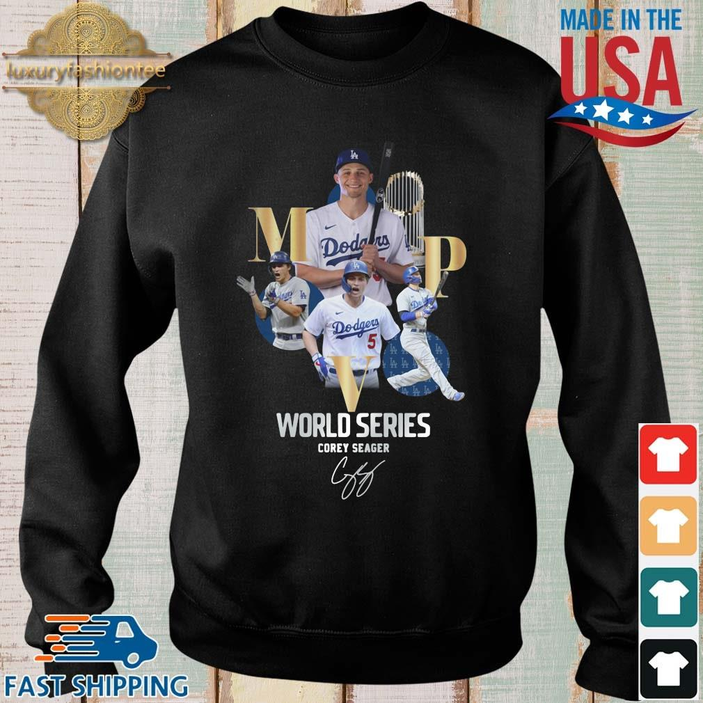 Los Angeles Dodgers world series Corey Seager MVP signature shirt