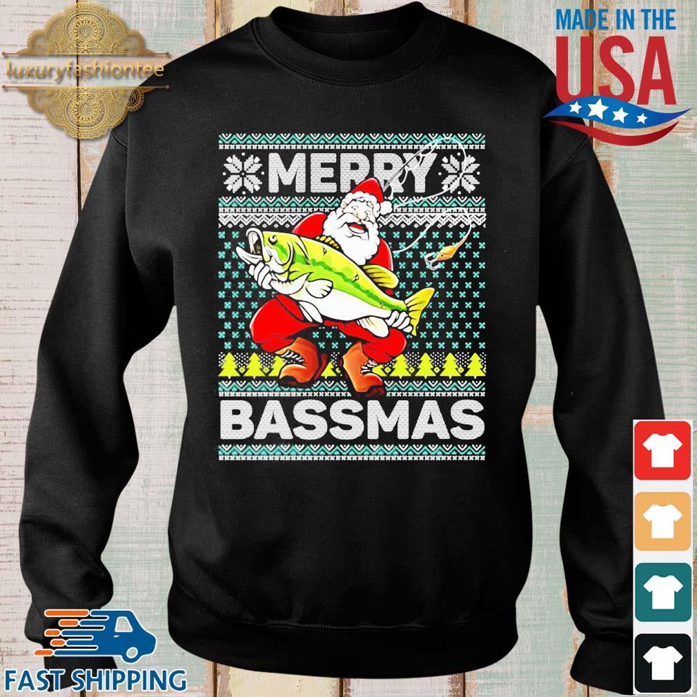Merry Bassmas Fish Santa Christmas Sweats Sweater den