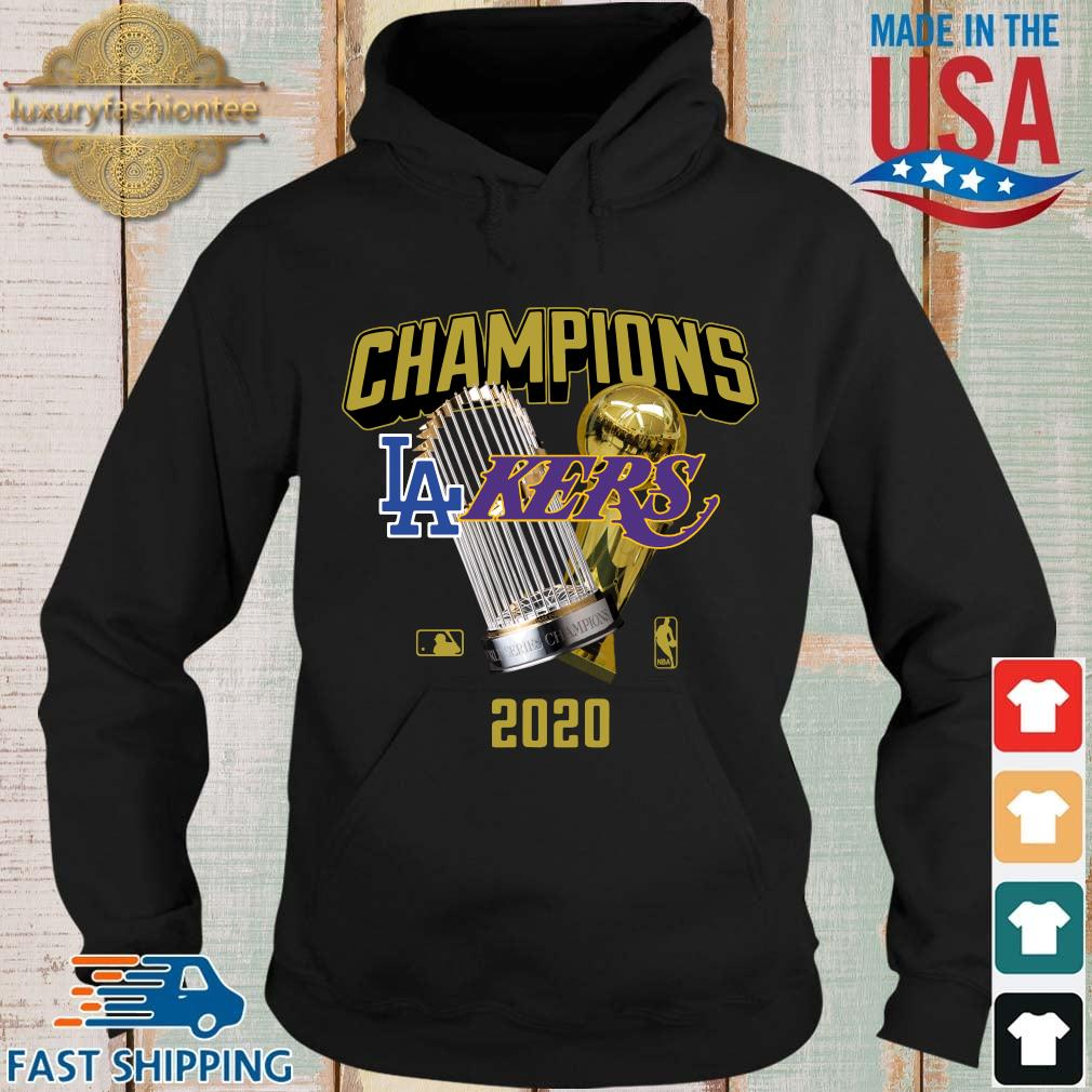 Official Champions Los Angeles Lakers And Los Angeles Dodgers 2020 Shirt Hoodie