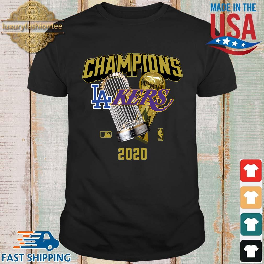 Official Champions Los Angeles Lakers And Los Angeles Dodgers 2020 Shirt shirt