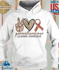 Peace Love Cure leukemia awareness Diamond s Hoodie trang