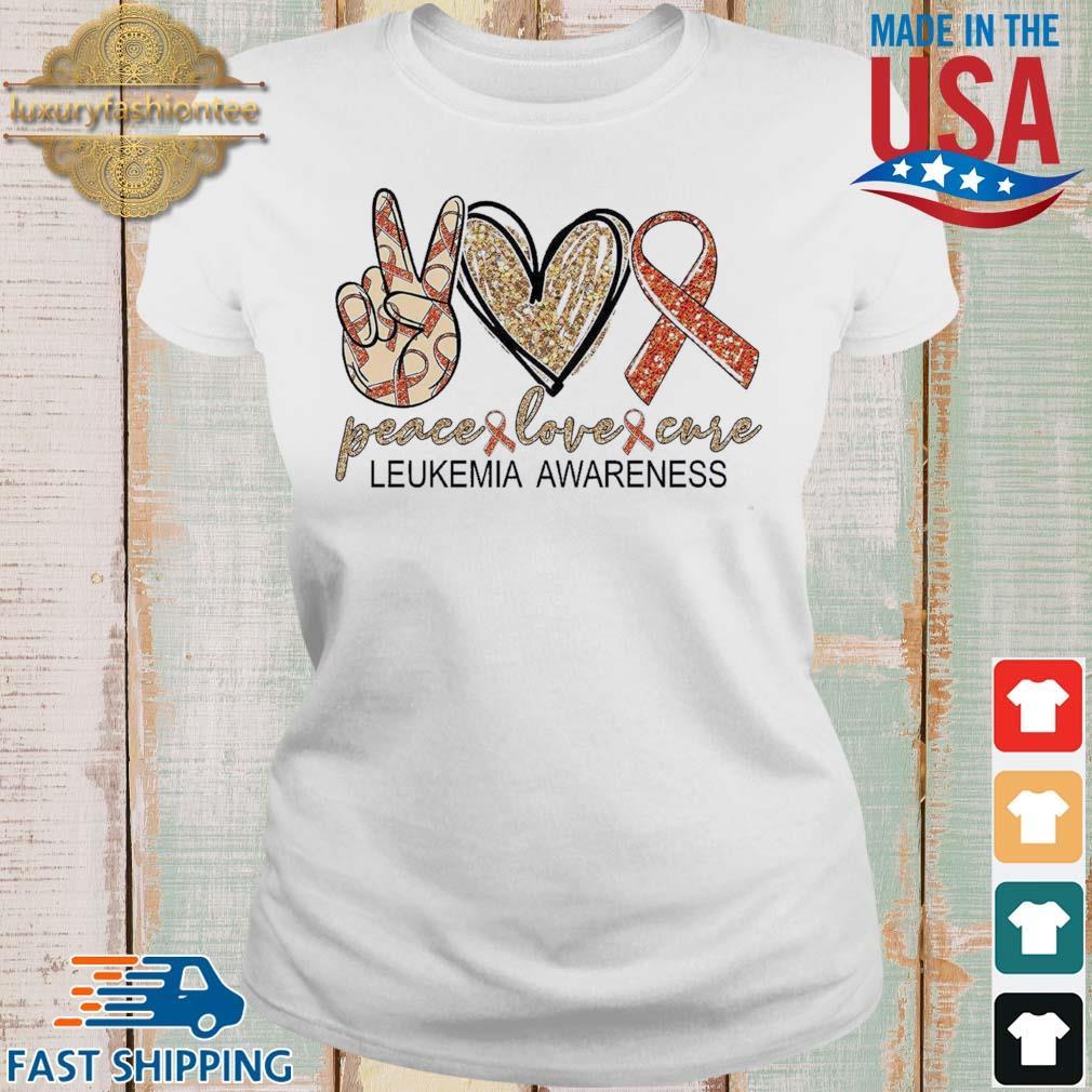 Peace Love Cure leukemia awareness Diamond s Ladies trang