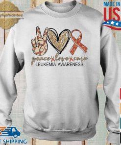 Peace Love Cure leukemia awareness Diamond s Sweater trang