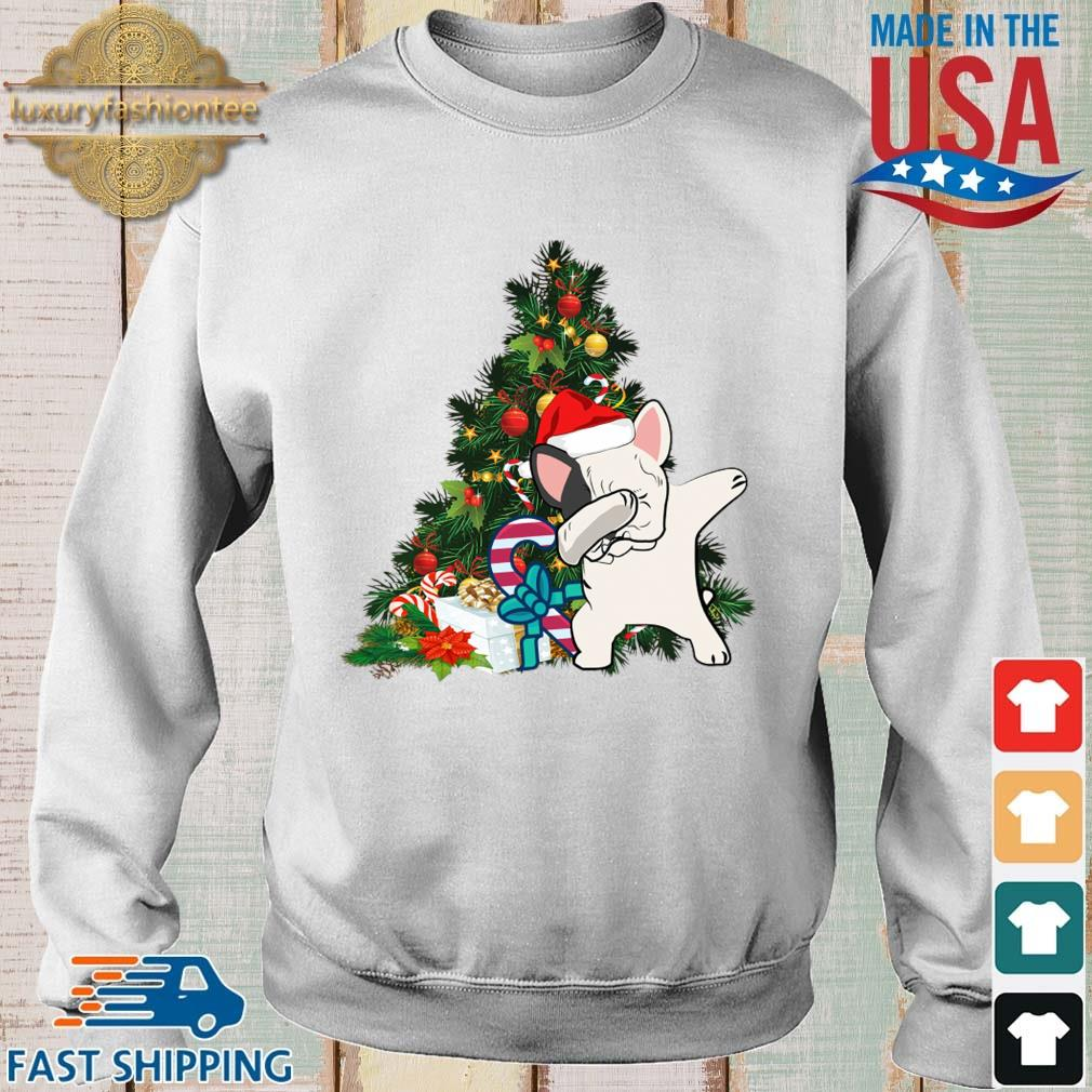 Santa Pitbull dabbing Christmas tree sweater