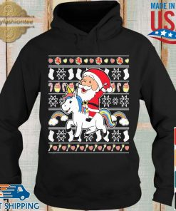 Santa riding unicorn Christmas s Hoodie den