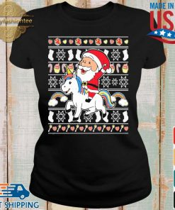 Santa riding unicorn Christmas s Ladies den