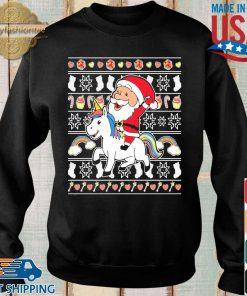 Santa riding unicorn Christmas s Sweater den